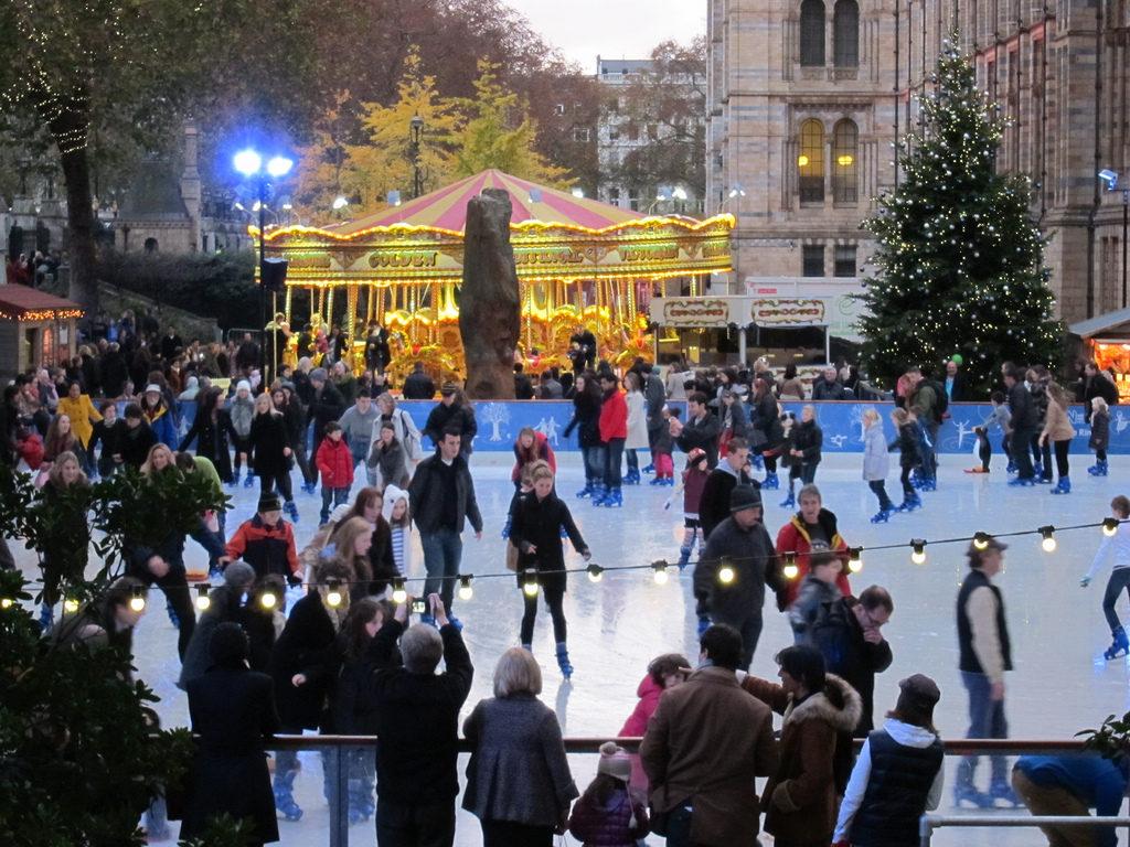ice skating; london; christmas