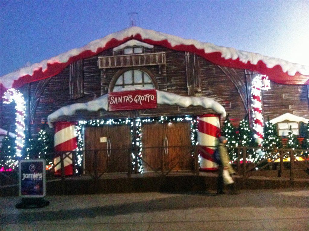 santas grotto; westfield; london; christmas