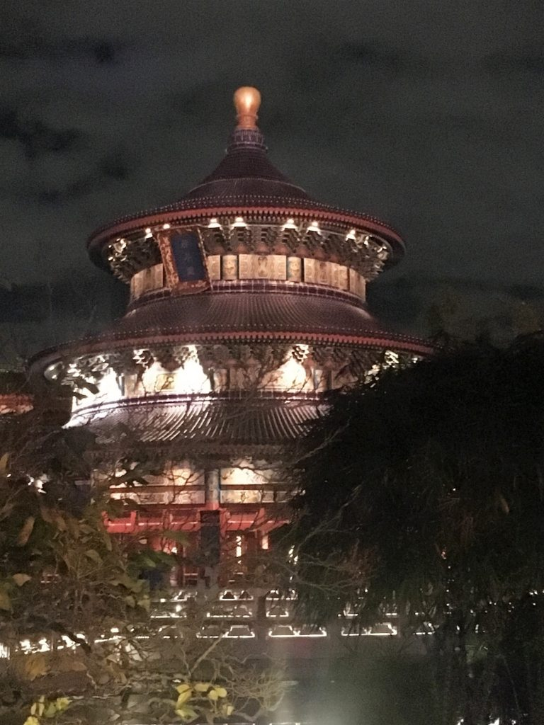epcot; new years; new years eve; orlando; china; temple of heaven