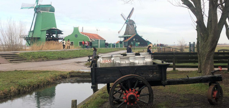 zaanse schans; netherlands; holland; windmills; dutch; amsterdam; day trip
