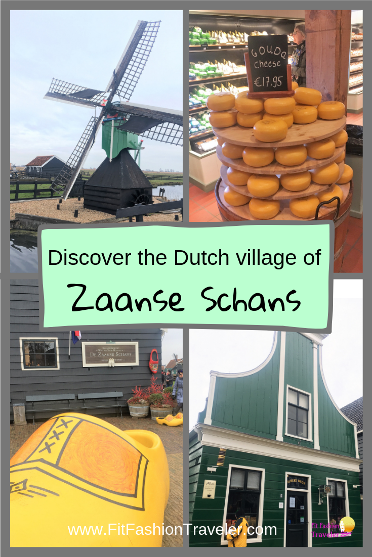 Plan the BEST day trip to the Dutch historic village of Zaanse Schans from Amsterdam using the guide in this blog post. Learn how to visit real windmills, see how clogs are made, and sample fresh gouda cheese FOR FREE! #zaanseschans #amsterdam #holland #netherlands #windmills