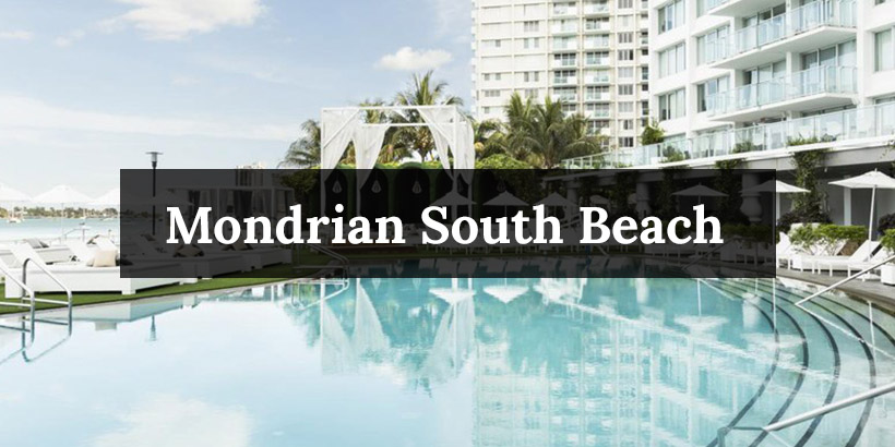 Mondrian South Beach pool overlooking downtown