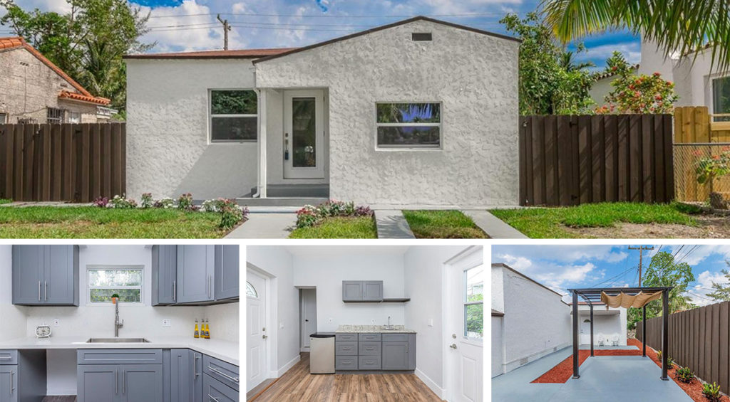 Single family home with front yard in Miami, FL