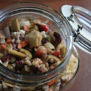 Olive Salad and Stuffed Olives