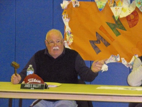 Mayor Mallot with his mallet presiding over the Public Hearing of April 11.