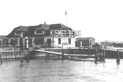 4.Early 1930s, with KISMET BEACH signage on the general store building. Note also the gas pumps.