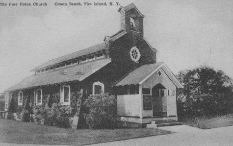 Vintage postcard of the Free Union Church (Courtesy Free Union Church of Ocean Beach, Fire Island)