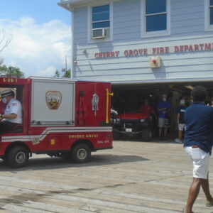 Chief Lyn and Cherry Grove's New Fire Truck