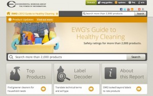 """EWG's Cleaning Database, """"Guide to Healthy Cleaning"""""""