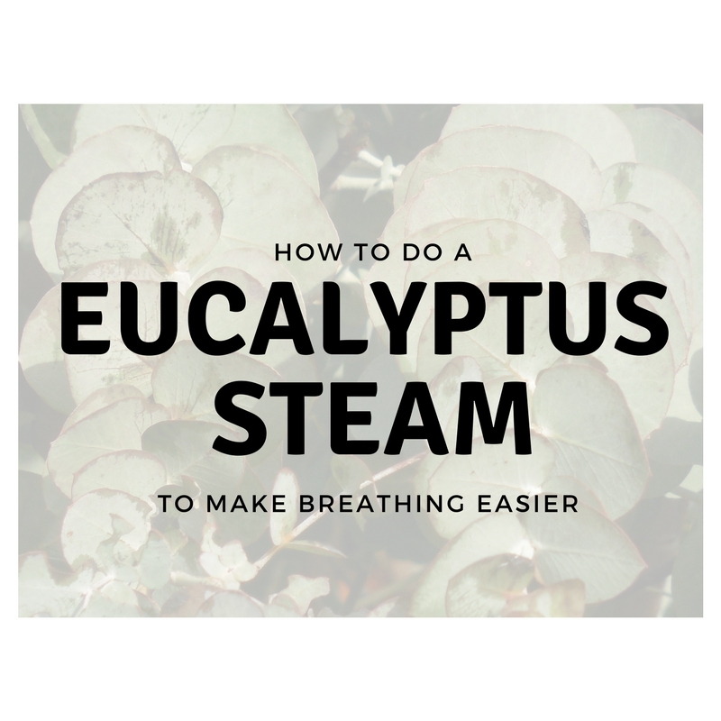 Winter Care Eucalyptus Steam to Support Healthy Breathing