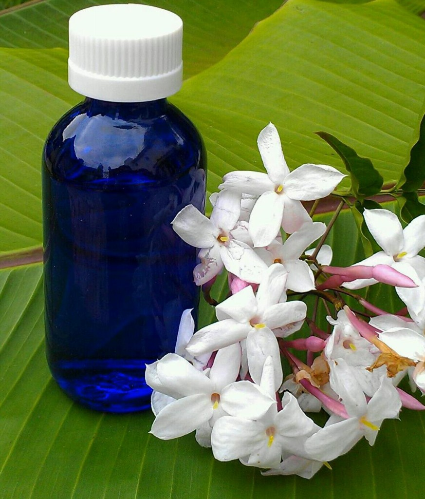 Putting massage oil in a small bottle makes it easy to warm up for abyangha massage.
