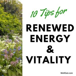 Graphic for 10 tips to spring back into spring with renewed energy and vitality.