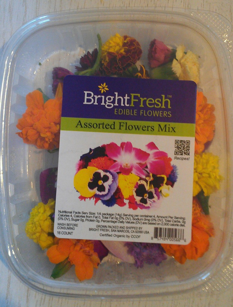 This 16-count assorted flower mix of Bright Fresh Edible Flowers retails for $3.99 - $5.99 depending on the retail store.