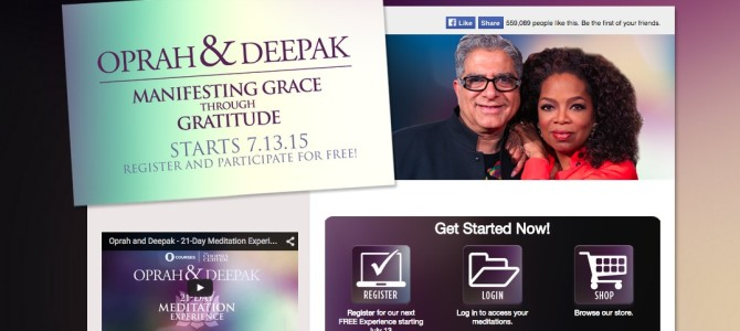 Manifesting Grace Through Gratitude: A Free Online Meditation Program by Deepak Chopra & Oprah