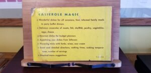 Casserole Magic back cover