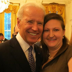 Nicole with Vice President Biden at the White House in 2013.