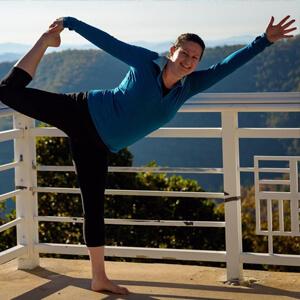 Nicole at a yoga retreat