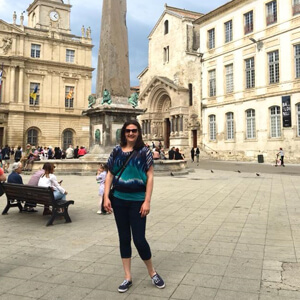 Nicole in France in 2018 - Nicole has traveled to over 40 countries