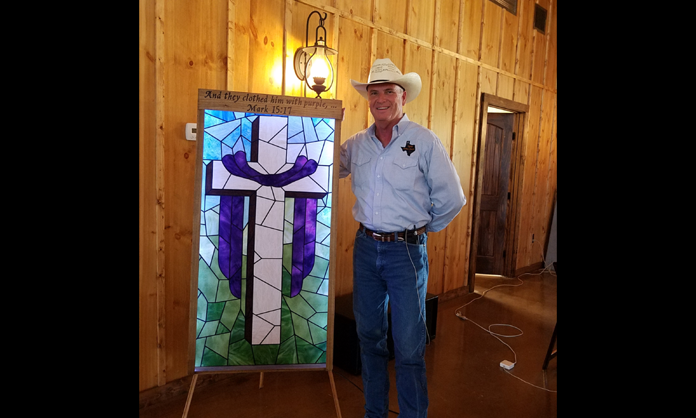 Art piece donated to TCC by the Whitakers'. 3/11/18
