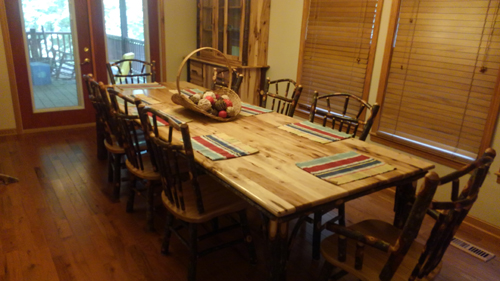 Morning Star 4 Bedroom Log Cabin Dining photo in Gatlinburg - Pigeon Forge Tennessee