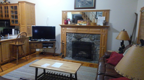 Morning Star 4 Bedroom Log Cabin Fireplace photo in Gatlinburg - Pigeon Forge Tennessee