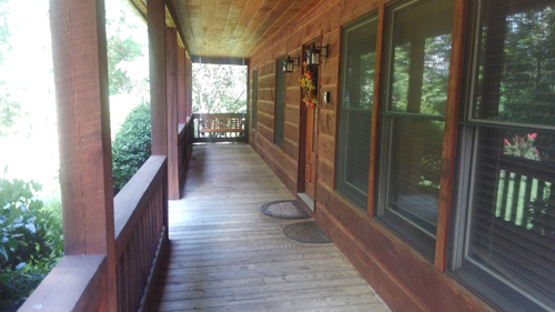 Morning Star 4 Bedroom Log Cabin Porch photo in Gatlinburg - Pigeon Forge Tennessee