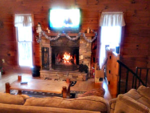 Smoky Mountain Memories 2 Bedroom Log Cabin Fireplace photo in Gatlinburg - Pigeon Forge Tennessee