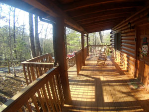 Smoky Mountain Memories 2 Bedroom Log Cabin Porch photo in Gatlinburg - Pigeon Forge Tennessee