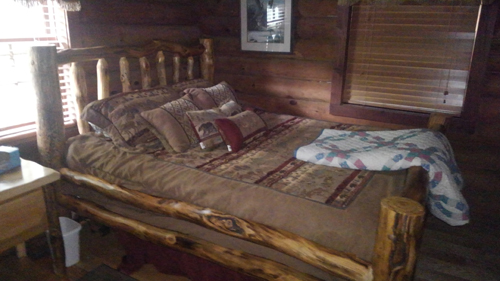 Tennessee Sunshine 3 Bedroom Log Cabin bedroom2 photo in Gatlinburg - Pigeon Forge Tennessee