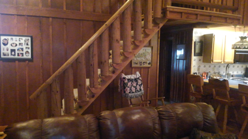 Tennessee Sunshine 3 Bedroom Log Cabin Stairs photo in Gatlinburg - Pigeon Forge Tennessee