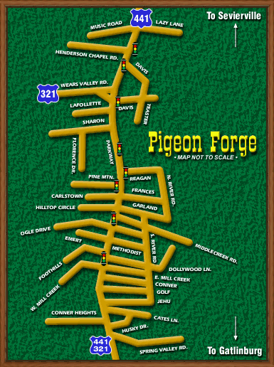 Pigeon Forge Map by Russ Salyer