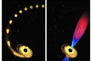 glimpse of black hole eating star