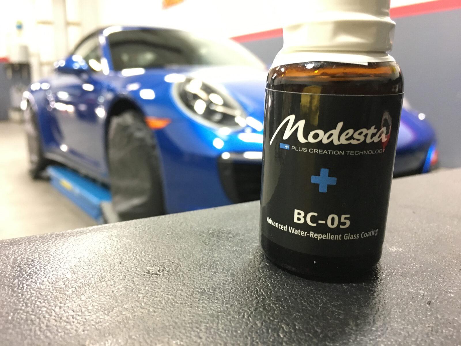 Porsche, ceramic coating, modesta, glass coating, ppf