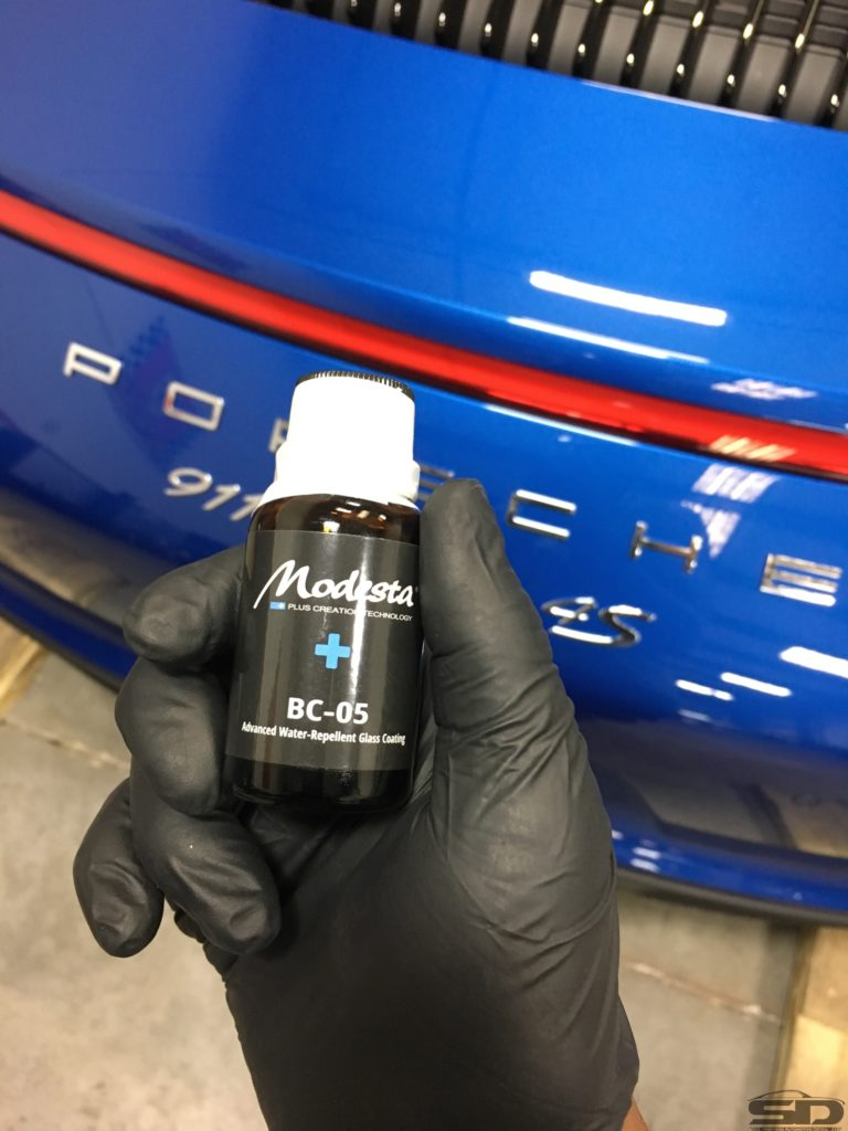 Glass Coating, Modesta, Porsche Detailing Orlando