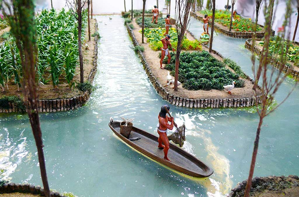 Aztec chinampas of Central America