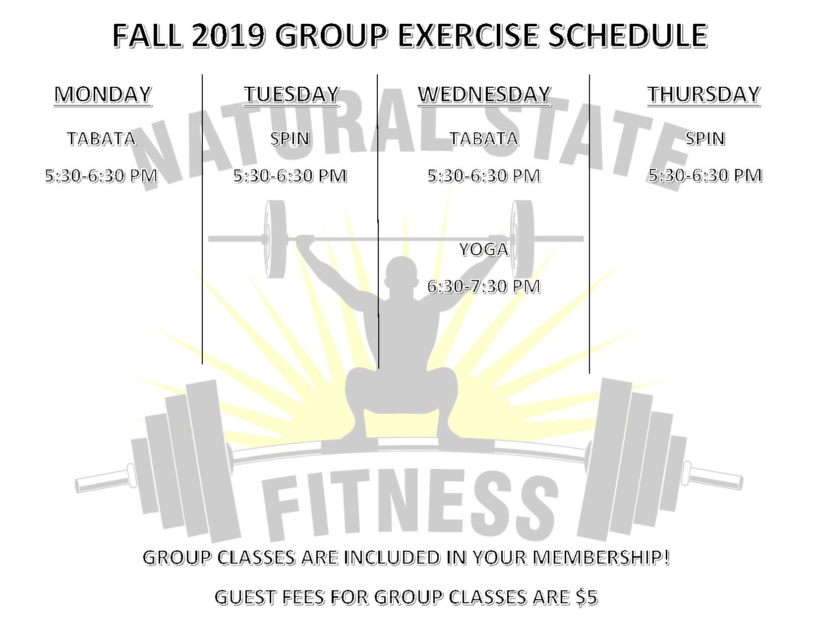 Group Exercise Schedule FALL 2019-page-001