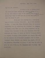 Diana Apcar to T.J. Edmonds, May 12, 1919, page 1