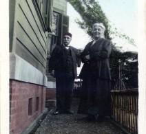 Diana with Mardiros Galstaun at the Yokohama house, 220 Bluff.