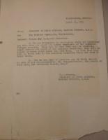 T.J. Edmonds to Diana Apcar, April 21, 1919
