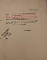 T.J. Edmonds to Diana Apcar, May 13, 1919