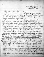 Diana Apcar to T.J. Edmonds, Aug 15, 1919, page 1