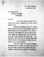 Alfred Davies to Diana apcar, Aug 24, 1920,  page 1