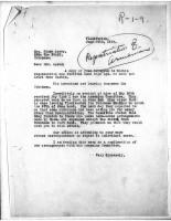 T.J. Edmonds to Diana Apcar, June 20, 1919