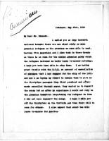 Diana Apcar to T.J. Edmonds, May 23, 1919