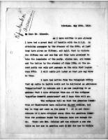 Diana Apcar. to T.J. Edmonds, May 28, 1919