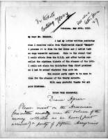 Diana Apcar to T.J. Edmonds, May 29, 1919, page 1