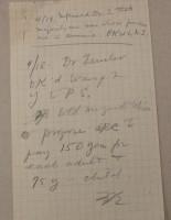 Note, April 19, 1919