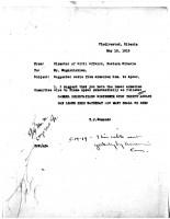 T.J. Edmonds to Mr. Mugurditchian, May 13, 1919