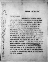 Diana Apcar to T.J. Edmonds, May 1, 1919, page 1