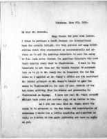 Diana Apcar to T.J. Edmonds, May 9, 1919, page 1